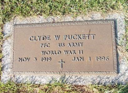 PUCKETT (VETERAN WWII), CLYDE W (NEW) - Hancock County, Mississippi   CLYDE W (NEW) PUCKETT (VETERAN WWII) - Mississippi Gravestone Photos