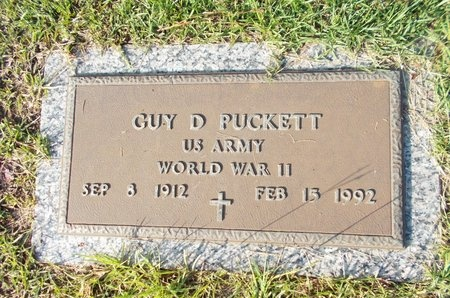 PUCKETT (VETERAN WWII), GUY D (NEW) - Hancock County, Mississippi | GUY D (NEW) PUCKETT (VETERAN WWII) - Mississippi Gravestone Photos