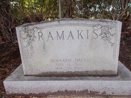 RAMAKIS, BERNARD DALE - Hancock County, Mississippi   BERNARD DALE RAMAKIS - Mississippi Gravestone Photos
