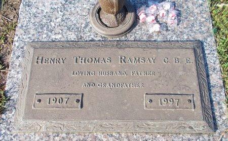 RAMSAY, HENRY THOMAS, CBE - Hancock County, Mississippi | HENRY THOMAS, CBE RAMSAY - Mississippi Gravestone Photos