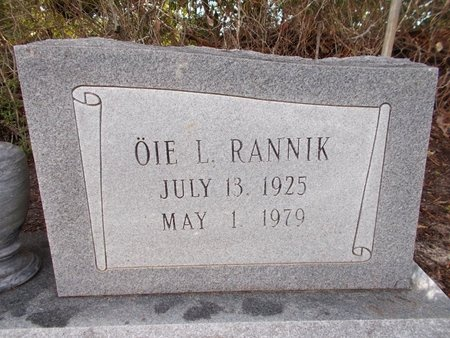RANNIK, OIE L - Hancock County, Mississippi | OIE L RANNIK - Mississippi Gravestone Photos