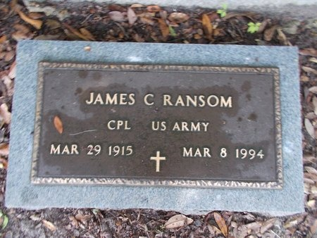 RANSOM (VETERAN), JAMES C (NEW) - Hancock County, Mississippi | JAMES C (NEW) RANSOM (VETERAN) - Mississippi Gravestone Photos