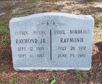 BORDEAUX RAYMOND, ETHEL - Hancock County, Mississippi | ETHEL BORDEAUX RAYMOND - Mississippi Gravestone Photos