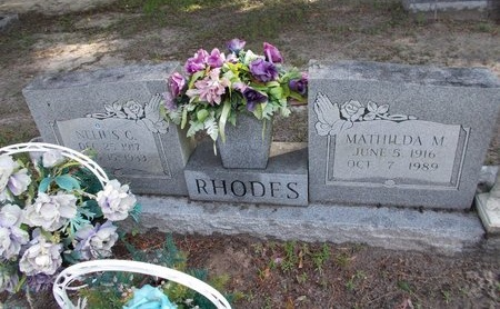 RHODES, NELIUS C - Hancock County, Mississippi   NELIUS C RHODES - Mississippi Gravestone Photos