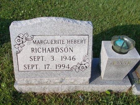 HEBERT RICHARDSON, MARGUERITE - Hancock County, Mississippi | MARGUERITE HEBERT RICHARDSON - Mississippi Gravestone Photos