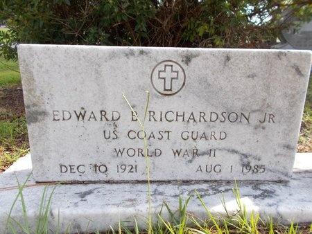 RICHARDSON (VETERAN WWII), EDWARD B., JR - Hancock County, Mississippi   EDWARD B., JR RICHARDSON (VETERAN WWII) - Mississippi Gravestone Photos