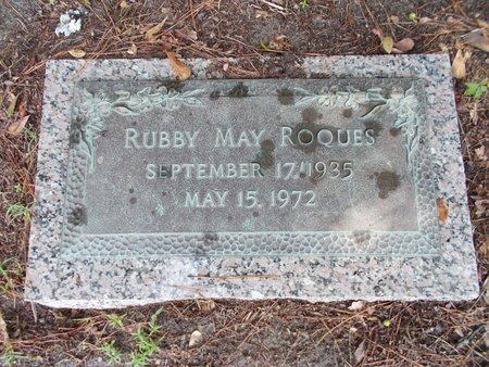 ROQUES, RUBBY MAY - Hancock County, Mississippi | RUBBY MAY ROQUES - Mississippi Gravestone Photos