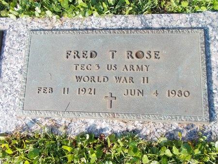 ROSE (VETERAN WWII), FRED T (NEW) - Hancock County, Mississippi | FRED T (NEW) ROSE (VETERAN WWII) - Mississippi Gravestone Photos