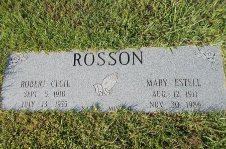ROSSON, MARY ESTELL - Hancock County, Mississippi | MARY ESTELL ROSSON - Mississippi Gravestone Photos