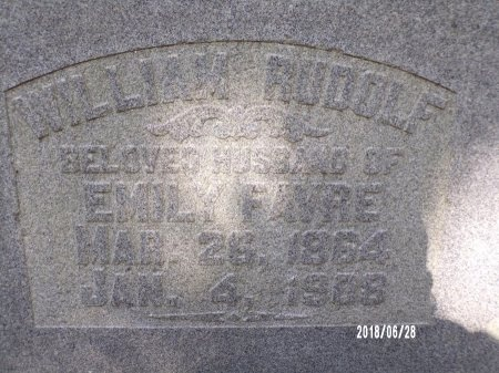 RUDOLF, WILLIAM - Hancock County, Mississippi | WILLIAM RUDOLF - Mississippi Gravestone Photos