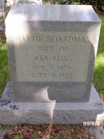 BOARDMAN RUSS, HATTIE - Hancock County, Mississippi | HATTIE BOARDMAN RUSS - Mississippi Gravestone Photos