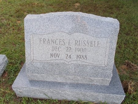 RUSSELL, FRANCES I - Hancock County, Mississippi   FRANCES I RUSSELL - Mississippi Gravestone Photos