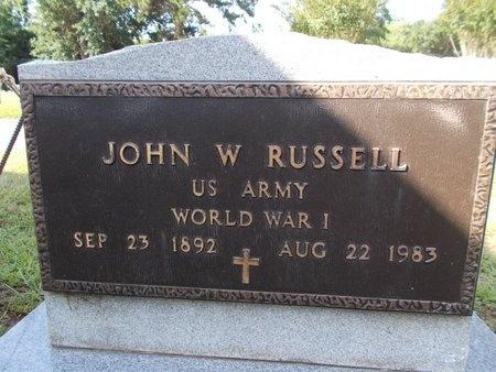 RUSSELL (VETERAN WWI), JOHN W (NEW) - Hancock County, Mississippi | JOHN W (NEW) RUSSELL (VETERAN WWI) - Mississippi Gravestone Photos
