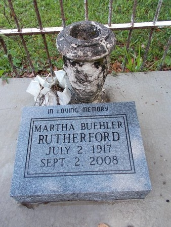 RUTHERFORD, MARTHA - Hancock County, Mississippi   MARTHA RUTHERFORD - Mississippi Gravestone Photos