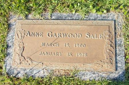GARWOOD SALE, ANNE - Hancock County, Mississippi | ANNE GARWOOD SALE - Mississippi Gravestone Photos