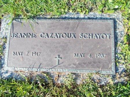 CAZAYOUX SCHAYOT, JEANNE - Hancock County, Mississippi | JEANNE CAZAYOUX SCHAYOT - Mississippi Gravestone Photos