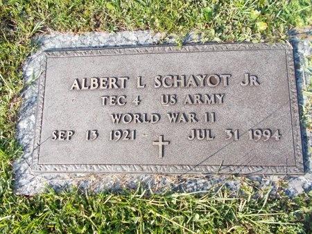 SCHAYOT (VETERAN WWII), ALBERT L., JR (NEW) - Hancock County, Mississippi   ALBERT L., JR (NEW) SCHAYOT (VETERAN WWII) - Mississippi Gravestone Photos
