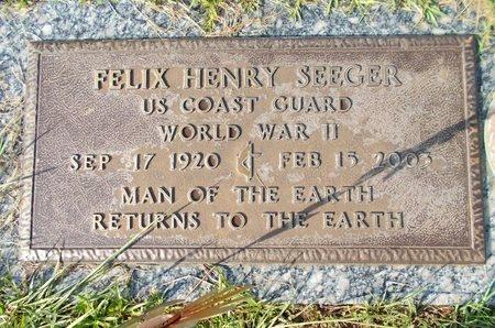 SEEGER (VETERAN WWII), FELIX HENRY (NEW) - Hancock County, Mississippi | FELIX HENRY (NEW) SEEGER (VETERAN WWII) - Mississippi Gravestone Photos