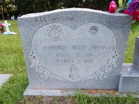 "SHEPPARD, ALPHONSE ""BLUE"" (CLOSE UP) - Hancock County, Mississippi | ALPHONSE ""BLUE"" (CLOSE UP) SHEPPARD - Mississippi Gravestone Photos"