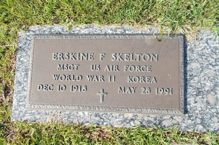 SKELTON (VETERAN 2 WARS), ERSKINE F (NEW) - Hancock County, Mississippi | ERSKINE F (NEW) SKELTON (VETERAN 2 WARS) - Mississippi Gravestone Photos