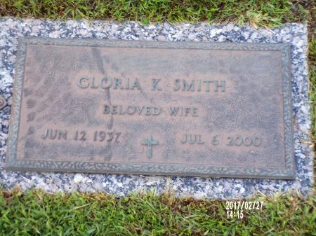 SMITH, GLORIA K - Hancock County, Mississippi | GLORIA K SMITH - Mississippi Gravestone Photos