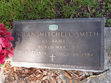 SMITH (VETERAN WWI), NOLAN MITCHELL (NEW) - Hancock County, Mississippi   NOLAN MITCHELL (NEW) SMITH (VETERAN WWI) - Mississippi Gravestone Photos