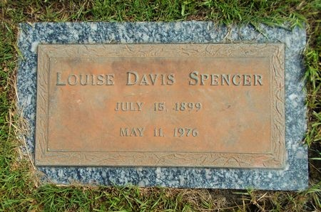 DAVIS SPENCER, LOUISE - Hancock County, Mississippi | LOUISE DAVIS SPENCER - Mississippi Gravestone Photos
