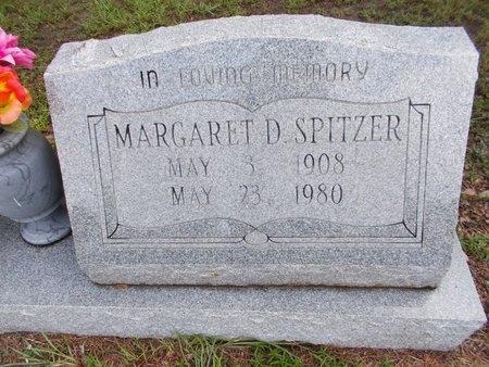 SPITZER, MARGARET D (CLOSE UP) - Hancock County, Mississippi | MARGARET D (CLOSE UP) SPITZER - Mississippi Gravestone Photos
