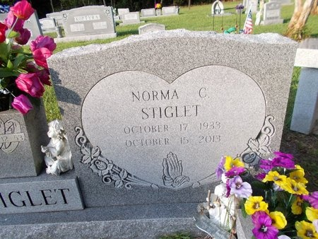 STIGLET, NORMA (CLOSE UP) (OBIT) - Hancock County, Mississippi | NORMA (CLOSE UP) (OBIT) STIGLET - Mississippi Gravestone Photos