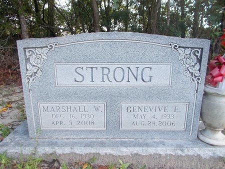 STRONG, GENEVIVE E - Hancock County, Mississippi | GENEVIVE E STRONG - Mississippi Gravestone Photos