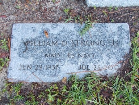STRONG (VETERAN), WILLIAM D., JR  (NEW) - Hancock County, Mississippi | WILLIAM D., JR  (NEW) STRONG (VETERAN) - Mississippi Gravestone Photos