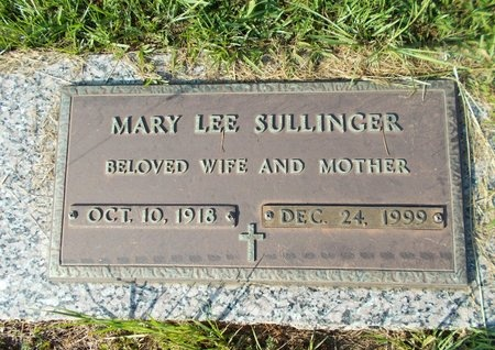 SULLINGER, MARY LEE - Hancock County, Mississippi | MARY LEE SULLINGER - Mississippi Gravestone Photos