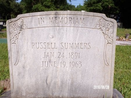 SUMMERS, RUSSELL - Hancock County, Mississippi | RUSSELL SUMMERS - Mississippi Gravestone Photos