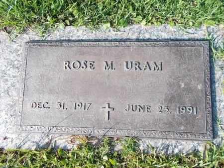 URAM, ROSE M - Hancock County, Mississippi | ROSE M URAM - Mississippi Gravestone Photos