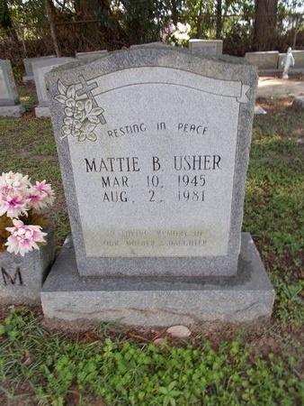 USHER, MATTIE B - Hancock County, Mississippi   MATTIE B USHER - Mississippi Gravestone Photos
