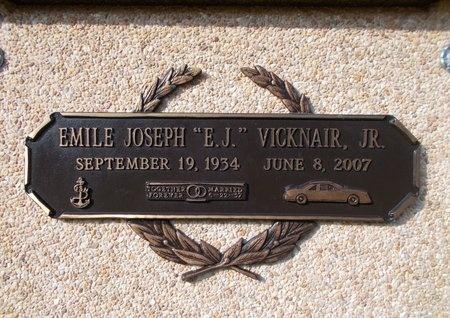 "VICKNAIR, EMILE JOSEPH ""EJ""., JR - Hancock County, Mississippi | EMILE JOSEPH ""EJ""., JR VICKNAIR - Mississippi Gravestone Photos"