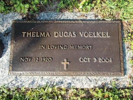DUGAS VOELKEL, THELMA - Hancock County, Mississippi | THELMA DUGAS VOELKEL - Mississippi Gravestone Photos