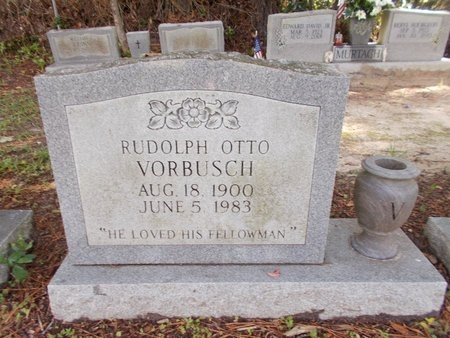 VORBUSCH, RUDOLPH OTTO - Hancock County, Mississippi | RUDOLPH OTTO VORBUSCH - Mississippi Gravestone Photos