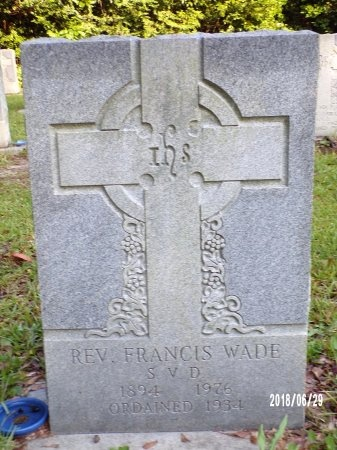 WADE, REV, FRANCIS - Hancock County, Mississippi   FRANCIS WADE, REV - Mississippi Gravestone Photos