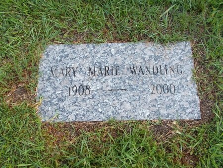 RANKIN WANDLING, MARY MARIE - Hancock County, Mississippi | MARY MARIE RANKIN WANDLING - Mississippi Gravestone Photos