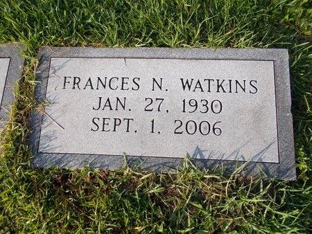 WATKINS, FRANCES N - Hancock County, Mississippi | FRANCES N WATKINS - Mississippi Gravestone Photos