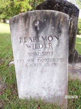 WILDER (VETERAN WWI), BEAREMON (NEW) - Hancock County, Mississippi   BEAREMON (NEW) WILDER (VETERAN WWI) - Mississippi Gravestone Photos