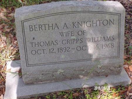 WILLIAMS, BERTHA A - Hancock County, Mississippi | BERTHA A WILLIAMS - Mississippi Gravestone Photos