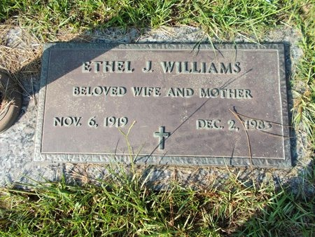 WILLIAMS, ETHEL J - Hancock County, Mississippi | ETHEL J WILLIAMS - Mississippi Gravestone Photos