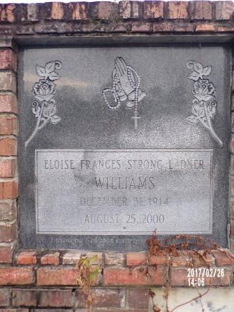 WILLIAMS, ELOISE FRANCES (CLOSE UP) - Hancock County, Mississippi | ELOISE FRANCES (CLOSE UP) WILLIAMS - Mississippi Gravestone Photos