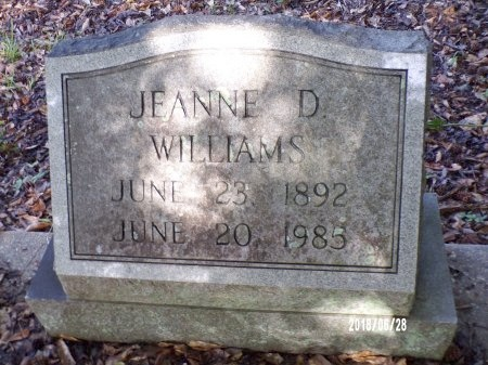 WILLIAMS, JEANNE D - Hancock County, Mississippi   JEANNE D WILLIAMS - Mississippi Gravestone Photos