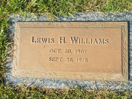 WILLIAMS, LEWIS H - Hancock County, Mississippi | LEWIS H WILLIAMS - Mississippi Gravestone Photos