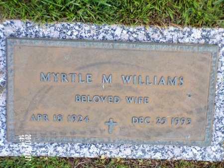 WILLIAMS, MYRTLE  - Hancock County, Mississippi | MYRTLE  WILLIAMS - Mississippi Gravestone Photos