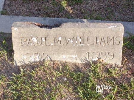 WILLIAMS, PAUL M (CLOSE UP) - Hancock County, Mississippi | PAUL M (CLOSE UP) WILLIAMS - Mississippi Gravestone Photos