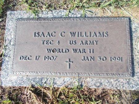 WILLIAMS (VETERAN WWII), ISAAC C (NEW) - Hancock County, Mississippi | ISAAC C (NEW) WILLIAMS (VETERAN WWII) - Mississippi Gravestone Photos